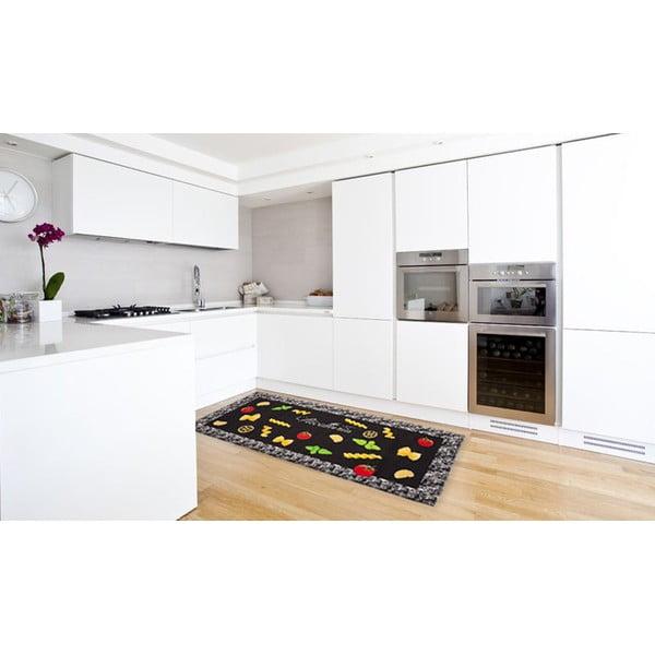 Vysokoodolný kuchynský koberec Pastabook, 60x220 cm