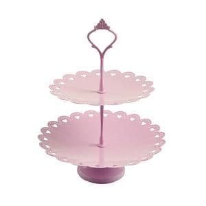 Dvojitý stojan na tortičky Traforata Rose