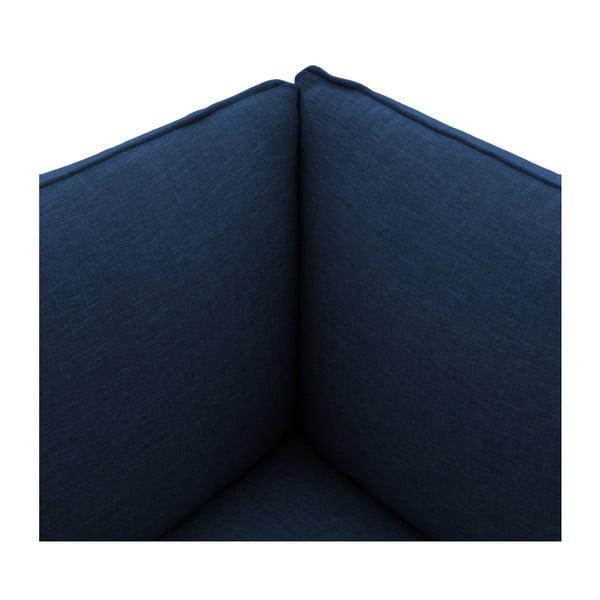 Tmavomodrá dvojmiestna pohovka s podnožkou VIVONITA Cube