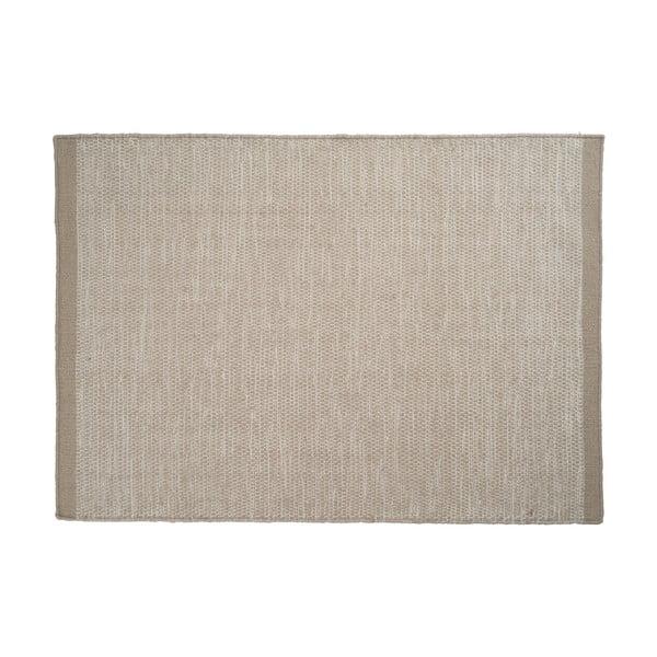 Vlnený koberec Asko, 80x250 cm, svetlobéžový