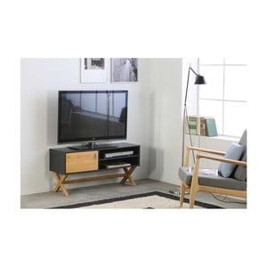 Sivý TV stolík zborovicového dreva SOB Leydo