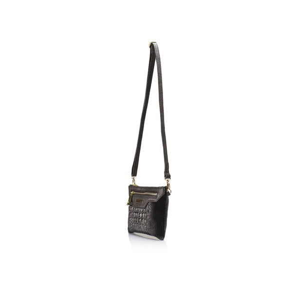 Čierna kožená kabelka Lisa Minardi Veronica
