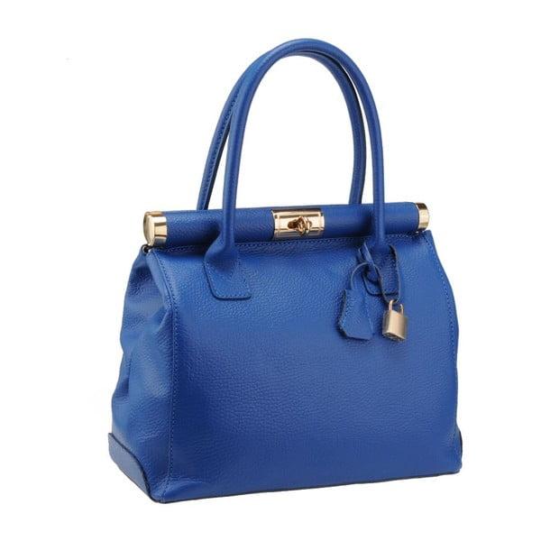 Modrá kožená kabelka Florence Abete