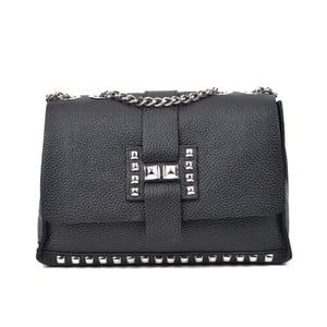 Čierna kožená kabelka Roberta M Mulio