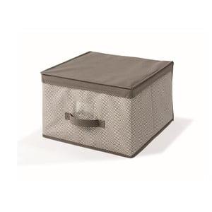 Hnedý uložný box s vrchnákom Cosatto Twill, 40x40cm