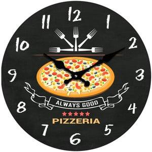 Sklenené hodiny Pizzeria, 34 cm