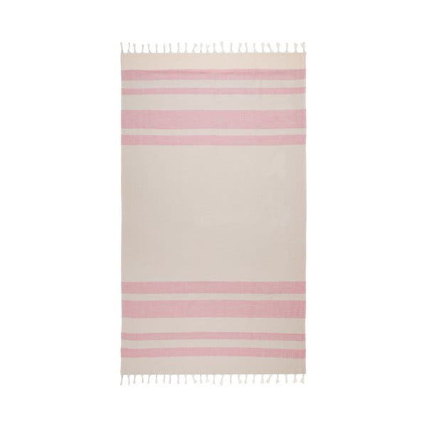 Béžovo-ružová hammam osuška Begonville Form, 95x175cm