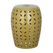 Zelený porcelánový stolík Safavieh Atticus Khaki