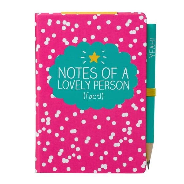 Zápisník A7 s ceruzkou Happy Jackson Lovely