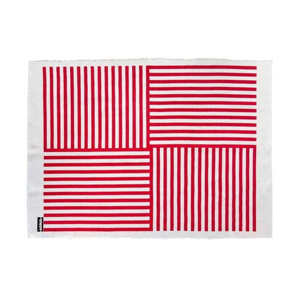 Koberec Lona Print 200x150 cm, červený/biely
