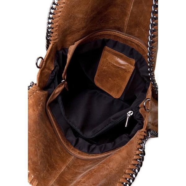 Kožená kabelka Markese 126 Cognaco