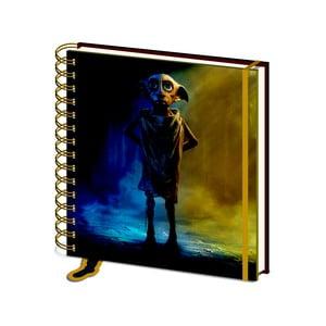Linajkový zápisník Pyramid International Harry Potter: Dobby, 80 strán