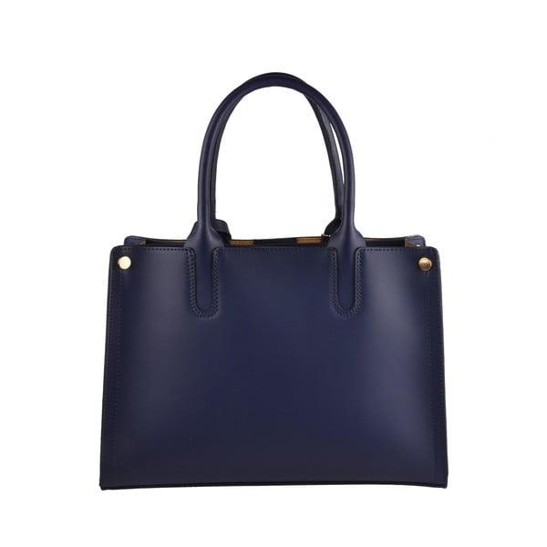 Modrá kožená kabelka Florence Emilio Mas Manor