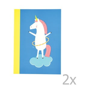 Sada 2 linajkových zošitov s potlačou jednorožca Rex London Magical Unicorn