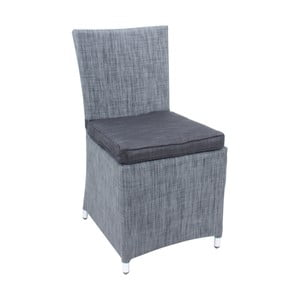 Sada 2 sivých záhradných stoličiek s podsedákom ADDU Odessa Chair