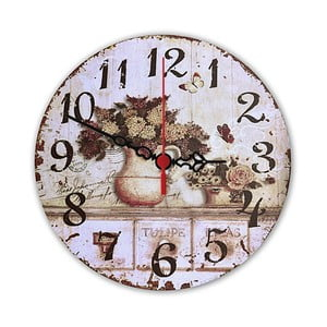 Nástenné hodiny Floral, 30 cm