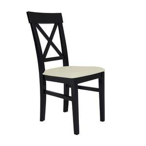 Čierna stolička s krémovým sedadlom BSL Concept Hinn