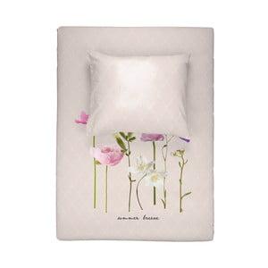 Ružové bavlnené obliečky na dvojlôžko Walra Summer Breeze, 200×220 cm