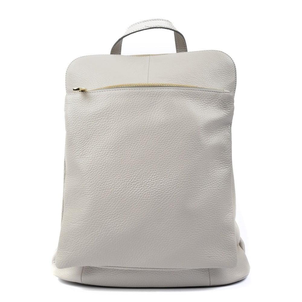 Svetlosivý kožený batoh Isabella Rhea Turo