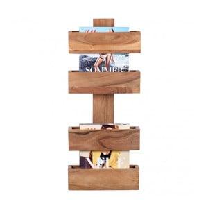 Stojan z masívneho akáciového dreva na časopisy Skyport Candela