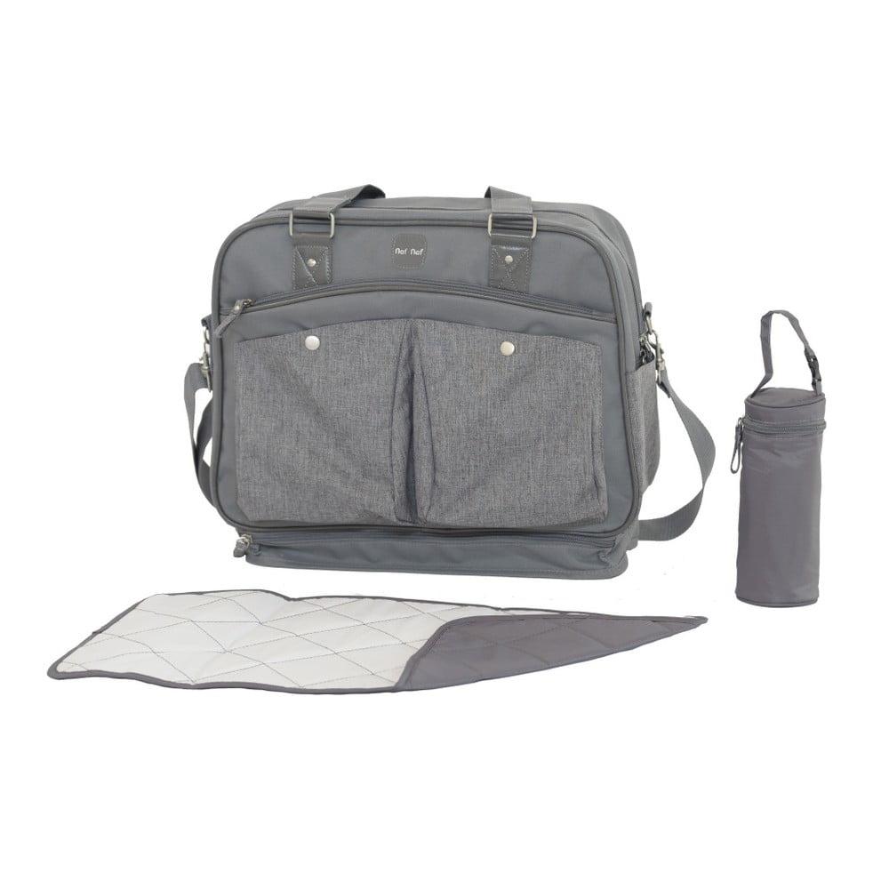 Set tašky cez rameno, prebaľovacej podložky a obalu na fľašku Tanuki Mummi Bag Furo