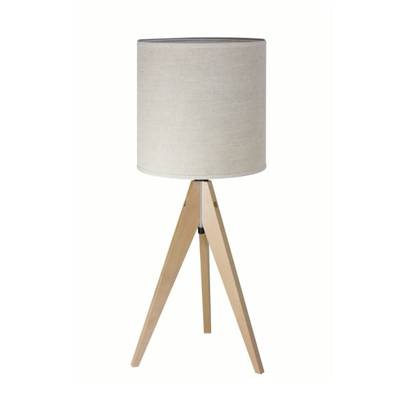 Stolná lampa Artist Grey Linnen/Birch, 40x25 cm