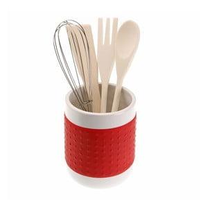 Červený stojan na kuchynské nástroje Versa