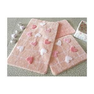 Sada 3 kúpeľňových predložiek Alessia Kalbim Pink
