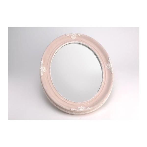 Zrkadlo Oval Pink, 50x40 cm