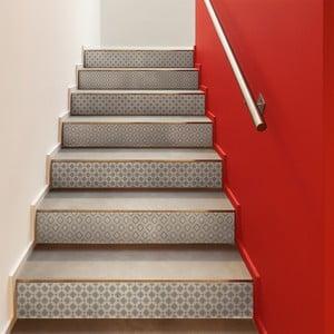 Sada 2 samolepiek na schody Ambiance Stickers Stair Jakob, 15 x 105 cm