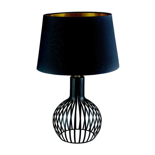 Stolová lampa Searchlight Cage, čierna