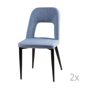 Sada 2 svetlomodrých jedálenských stoličiek sømcasa Anika