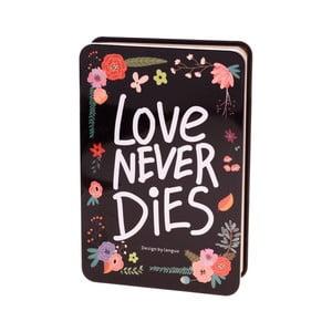 Plechový zápisník Languo Love, čierny