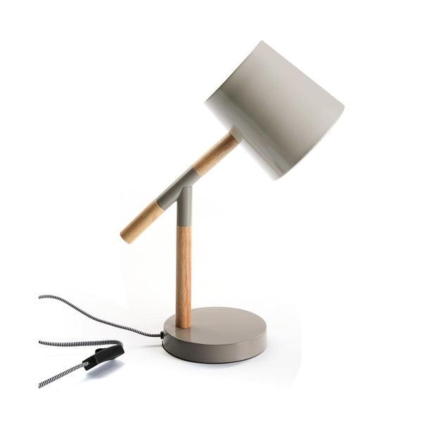 Sivá stolová lampa Versa Grey Modern