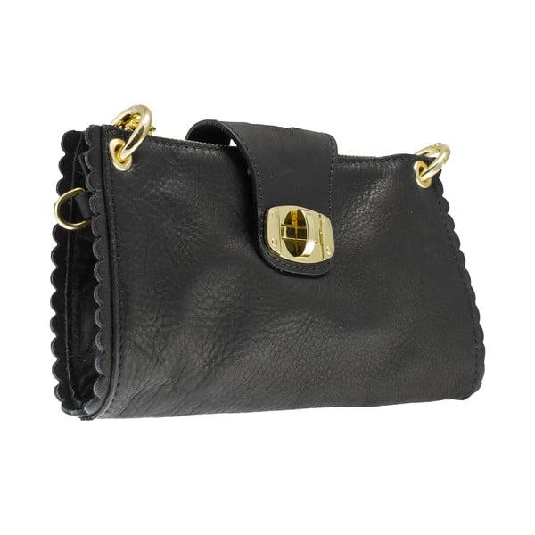 Kožená listová kabelka Giulia Massari 6688 Black