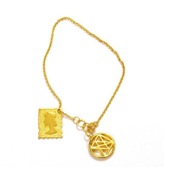 Náhrdelník Queen Gold, 17 cm
