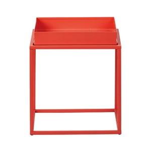 Oranžový kovový odkladací stolík Intersil Club NY