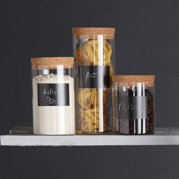 Dóza s tabuľovým štítkom Kitchen Craft Natural Elements, 24 cm