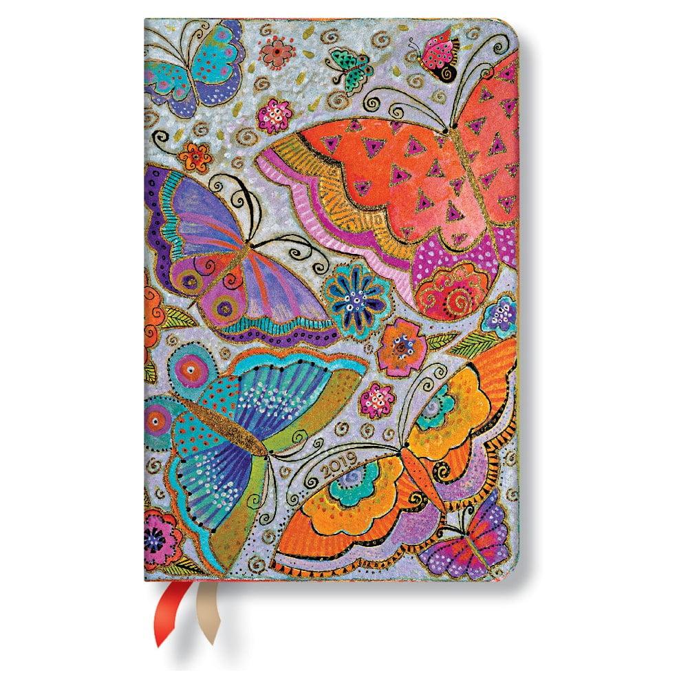 Diár na rok 2019 Paperblanks Flutterbyes Horizontal, 9,5 x 14 cm