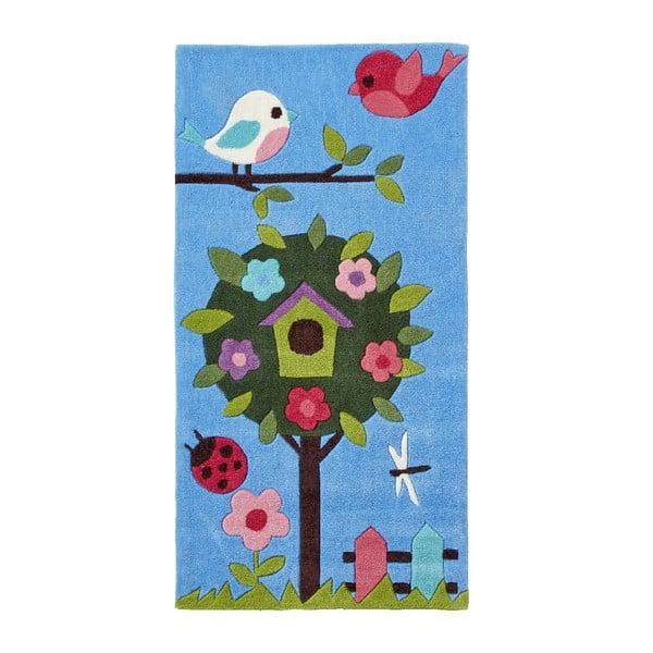Modrý koberec Think Rugs Tree Hong Kong, 70x140cm