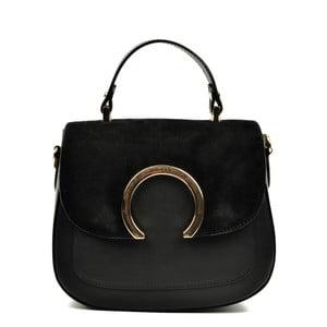 Čierna kožená kabelka Luisa Vannini Fristo