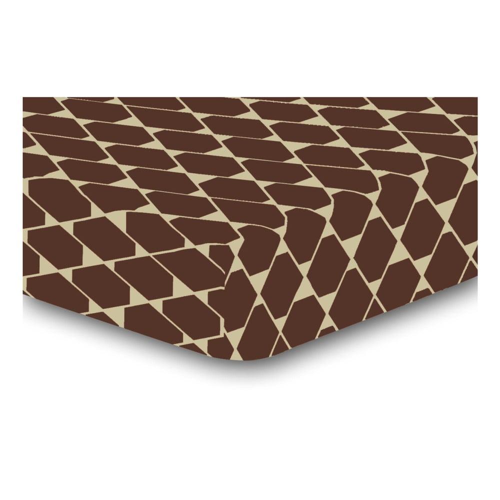 Elastická plachta z mikrovlákna DecoKing Rhombuses, 160 × 200 cm