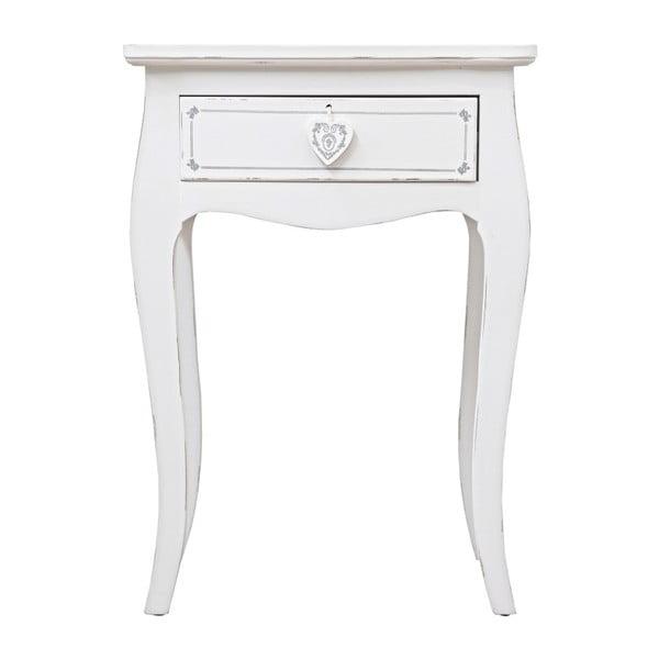 Odkladací stolík so zásuvkou Bizzotto Lisette, výška 69 cm