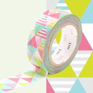 Washi páska Shimasankaku Pink