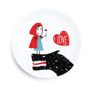Porcelánový tanier We Love Home Little Red Love, 25 cm