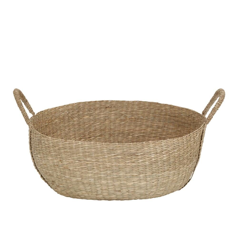 Pletený košík z morskej trávy A Simple Mess, ⌀ 46 cm