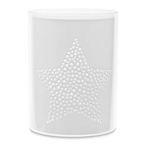 Svietnik Star White Cylinder