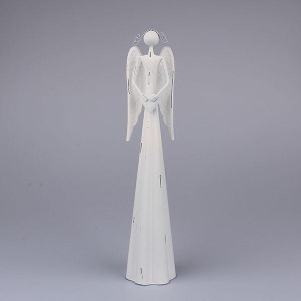 Biely anjel so srdcom Dakls
