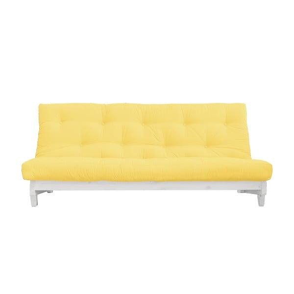 Rozkladacia pohovka Karup Design Fresh White/Yellow