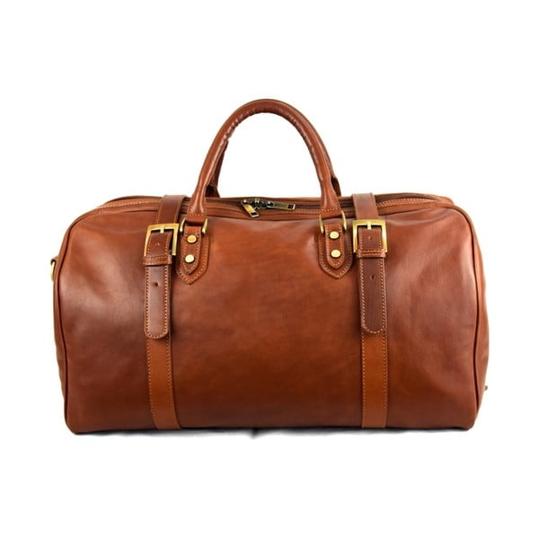 Kožená taška Santo Croce 82936 Brown